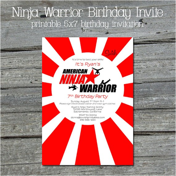 american ninja warrior digital birthday