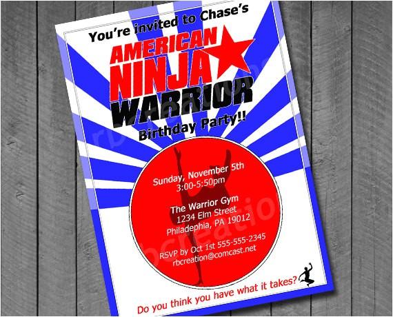 american ninja warrior digital birthday