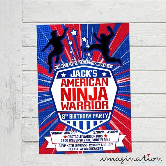 american ninja warrior invitation anw