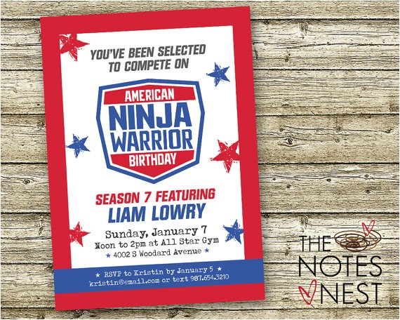 american ninja warrior birthday