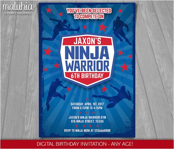 ninja warrior invitation american ninja