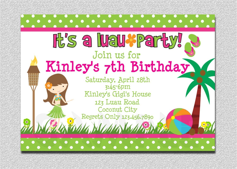 luau birthday invitation luau birthday