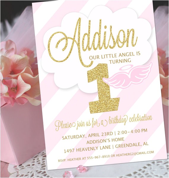 angel party invitation printable angel birthday