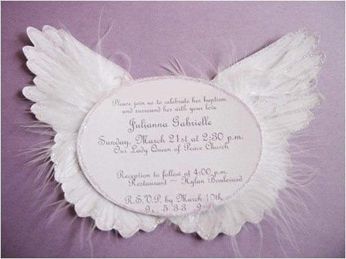 heaven sent angel wing invitations