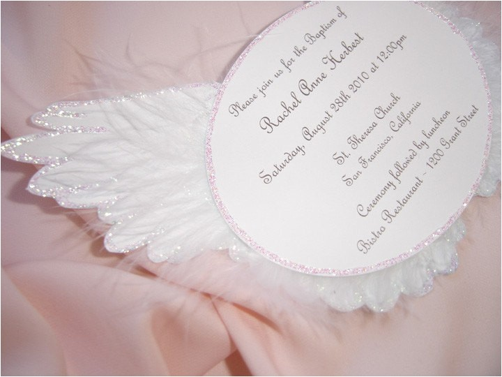 angel wing invitation angel baby shower