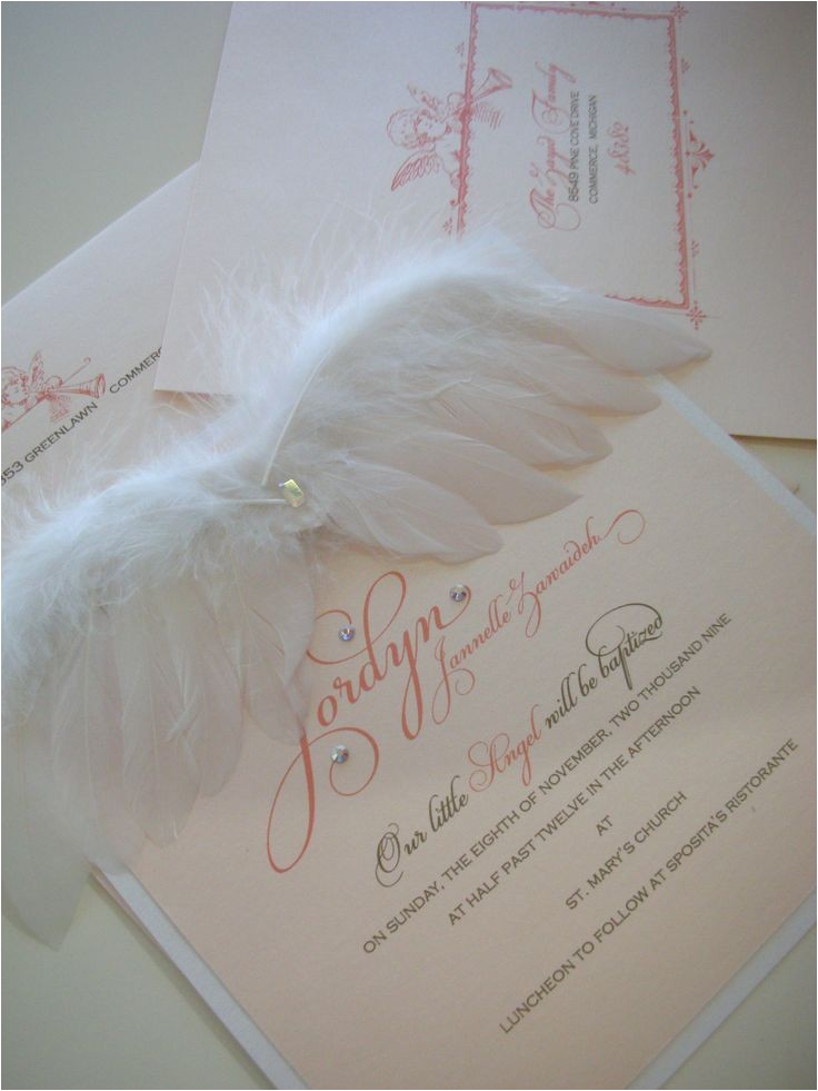 Angel Wings Baby Shower Invitations Best 25 Angel Baby Shower Ideas On Pinterest