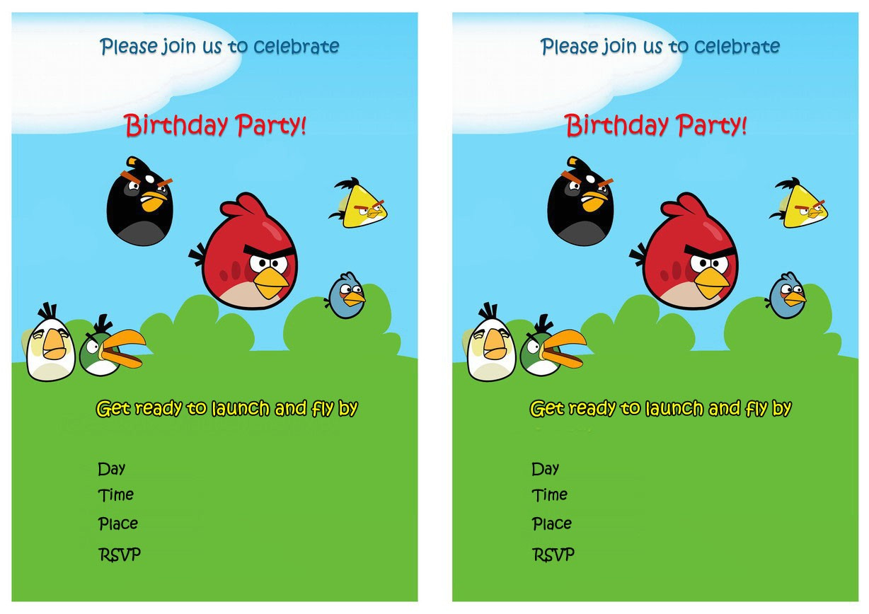 post angry birds printable invitations