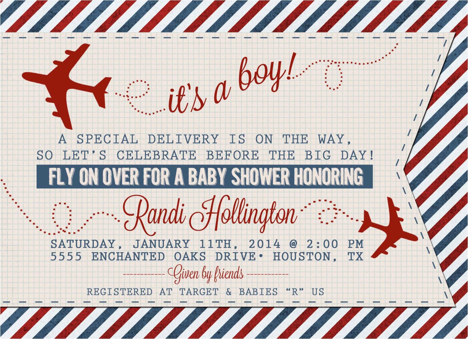 vintage airplane or aviation baby shower