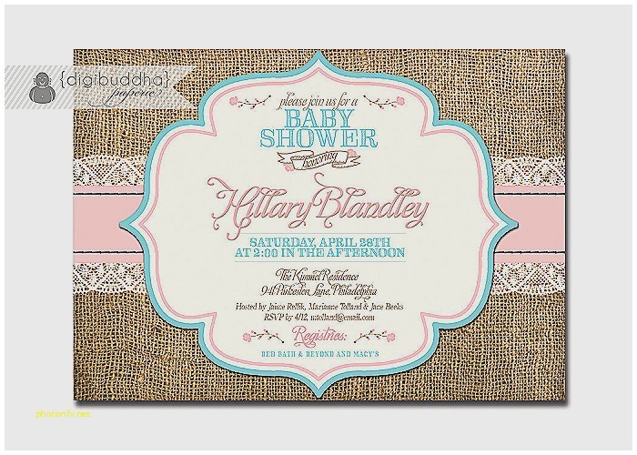 pink and aqua baby shower invitations