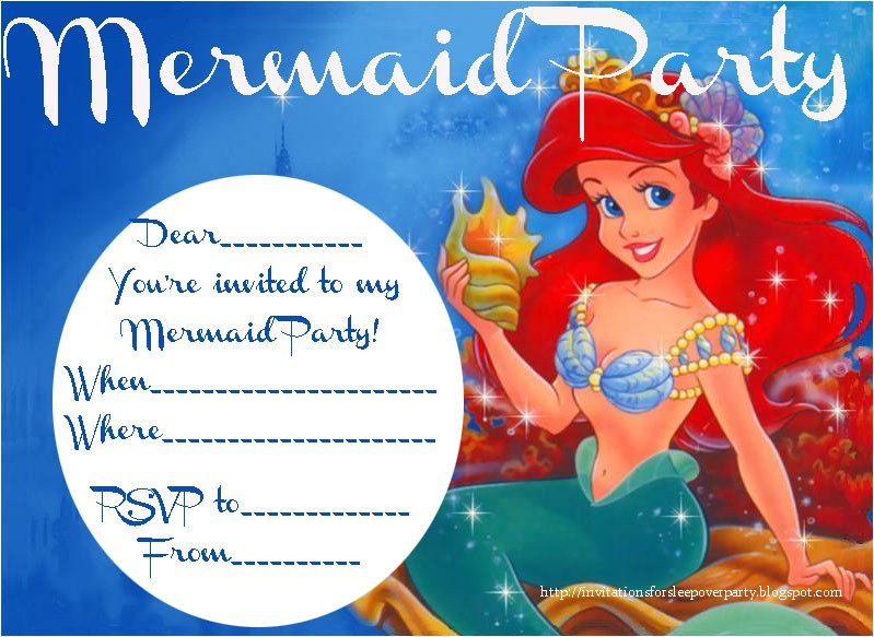 little mermaid invitation free printable