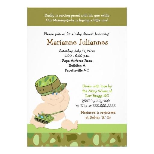 army invitations