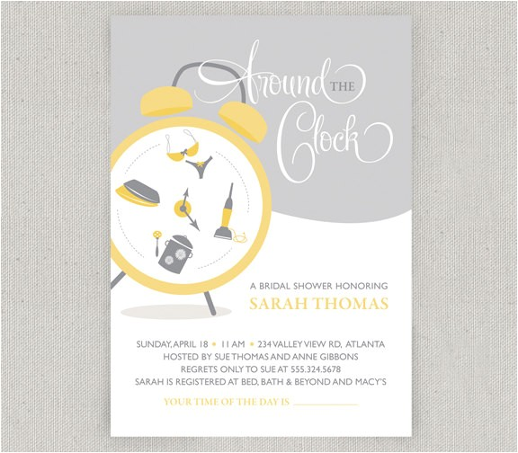 around the clock bridal shower