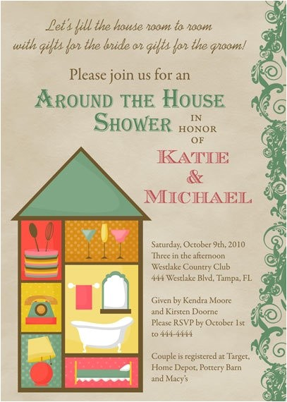 Around the House Bridal Shower Invitations Around the House Bridal Shower Invitations by