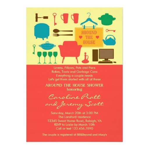 around the house couples bridal shower invitation 161554346414718182