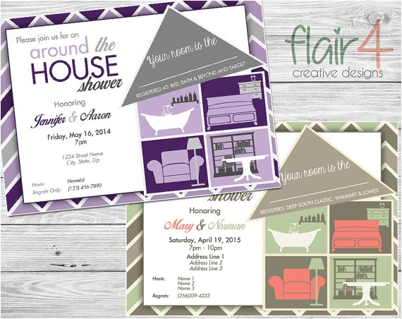 printable invitation around the house