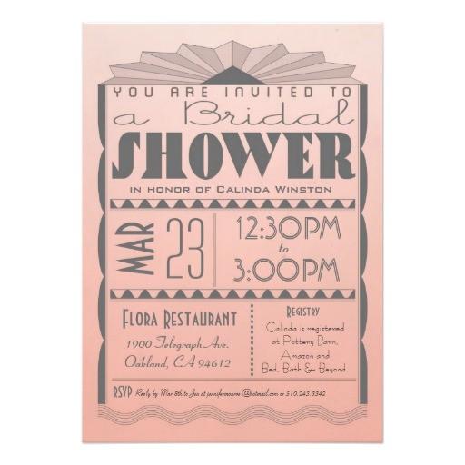 art deco bridal shower invitation gatsby style 161721291796766405