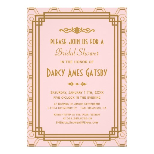 art deco bridal shower invitations 161371214125752301