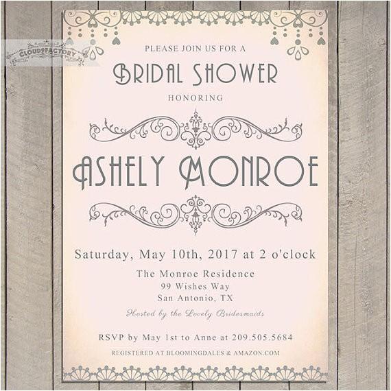 bridal shower invitations printable art
