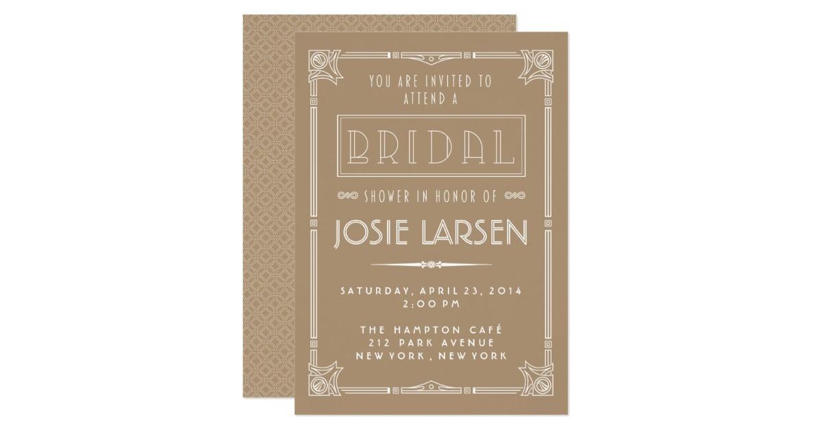vintage gatsby art deco bridal shower invitations 161389643494964082