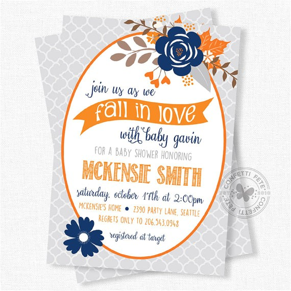 fall baby shower invitations floral baby