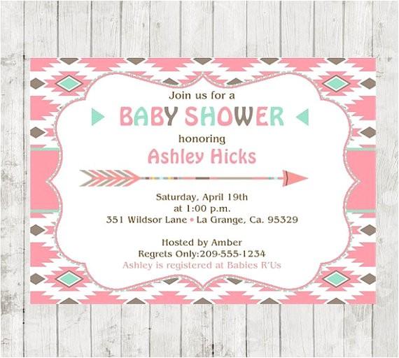 aztec baby shower invitation tribal baby