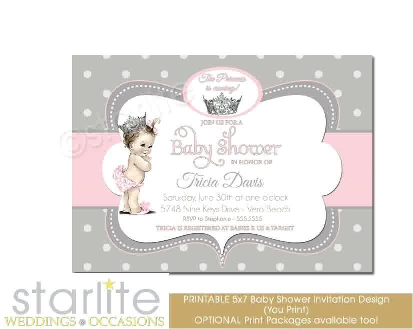 printable princess baby shower invitations at babies r us
