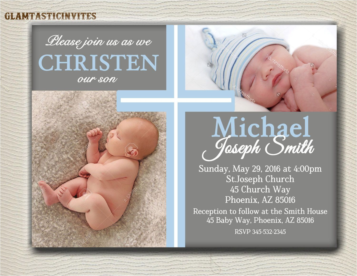 baby baptism invitations