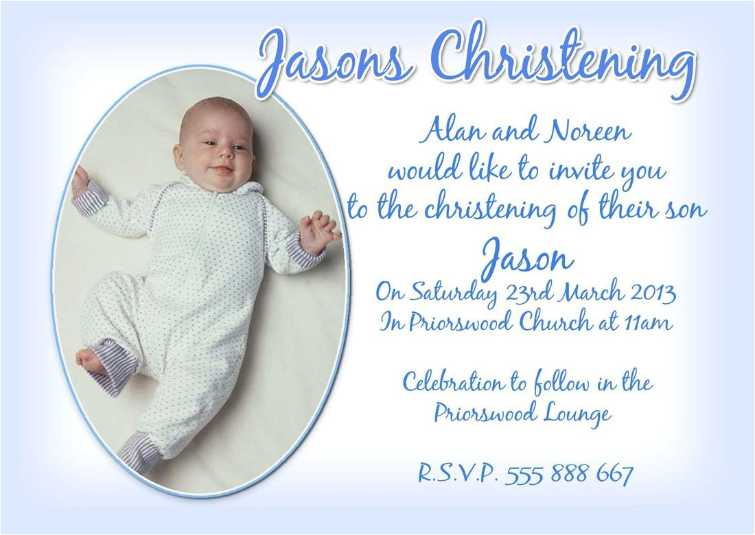 baby boy christening invitation wording