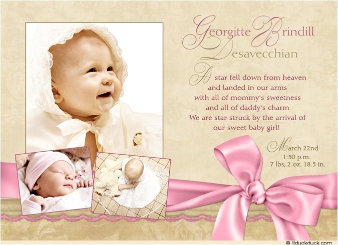 photo baby girl celebration announcement