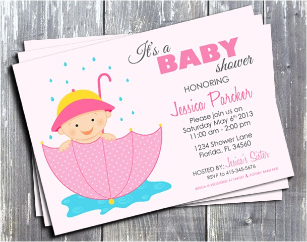 Baby Birth Party Invitation Ek Design Gallary Pink Girl Baby Shower Invitation