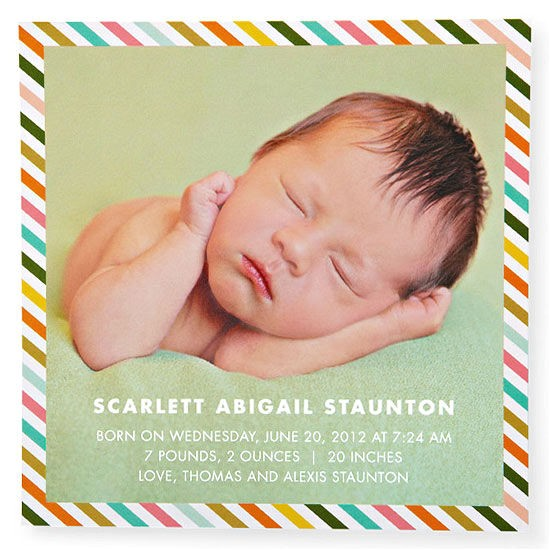 easy wording for birth announcements