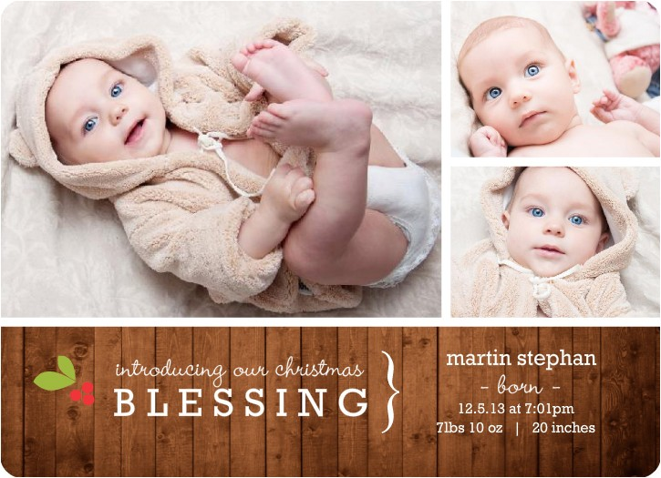 holiday birth announcement wording