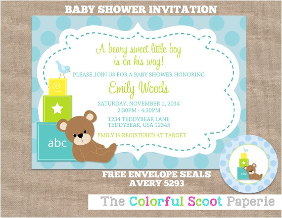 baby blocks baby shower invitation baby
