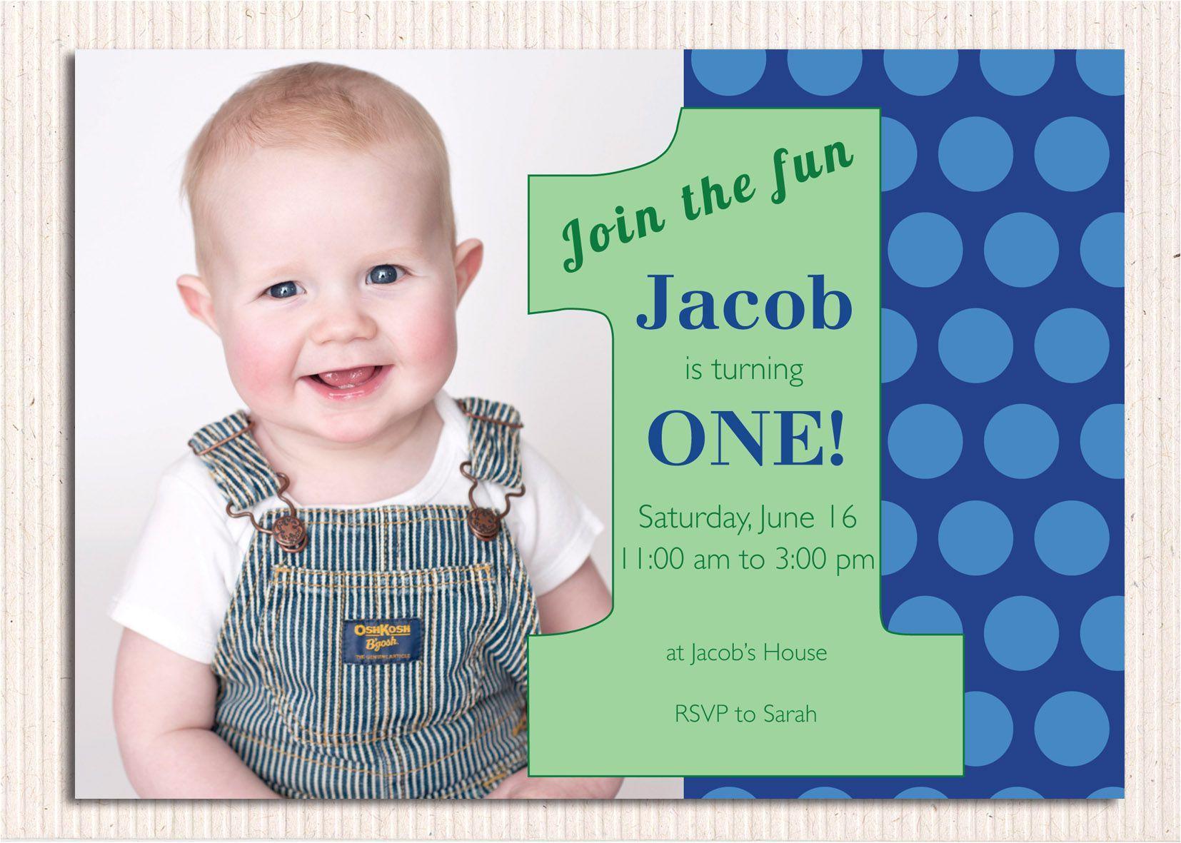 Baby Boy 1st Birthday Party Invitations 16 Best First Birthday Invites Printable Sample
