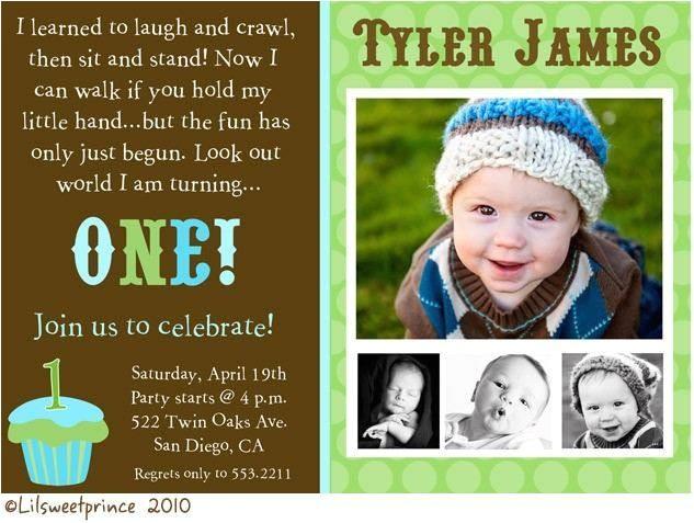 baby boy 1st birthday invitation