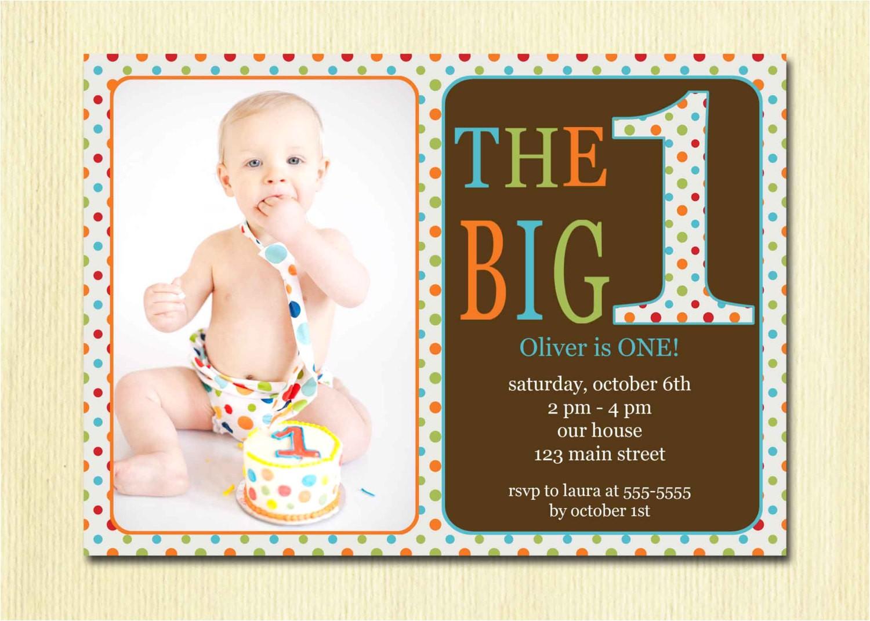 first birthday baby boy invitation diy