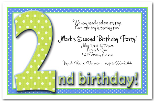 green and blue dots 2nd birthday
