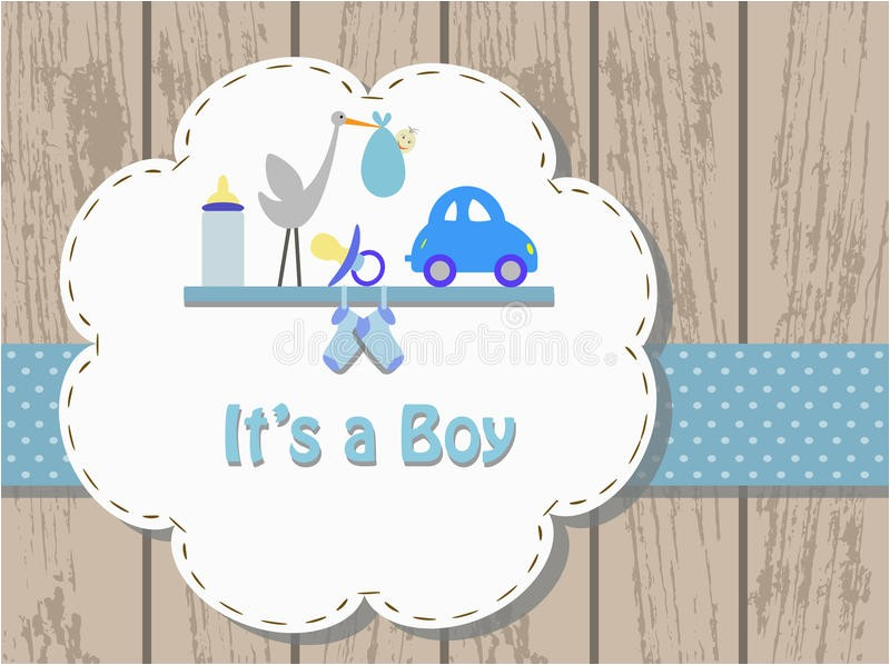 royalty free stock photography baby boy invitation card vector illustration birth concept image