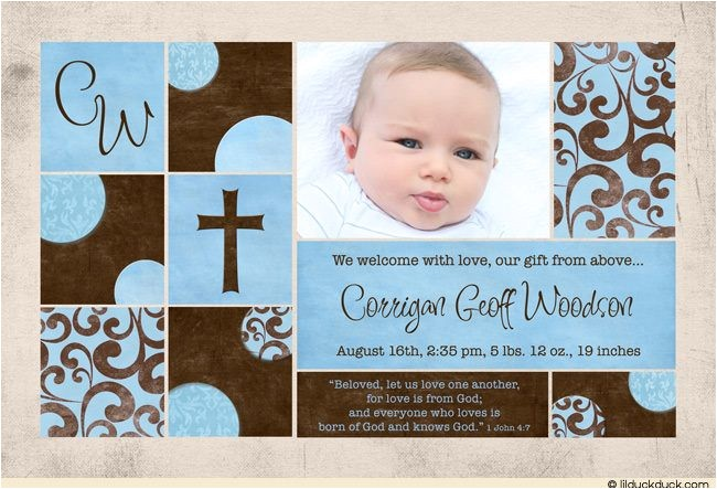 shabby chic photo birth announcement