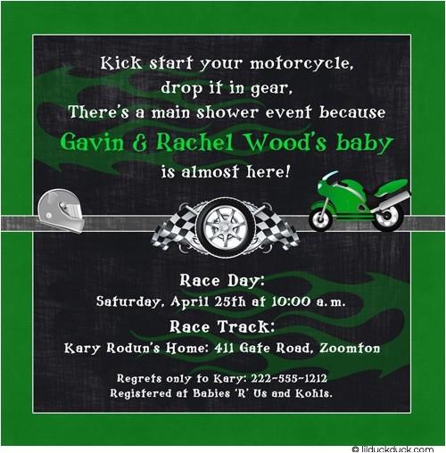 race car shower invitation
