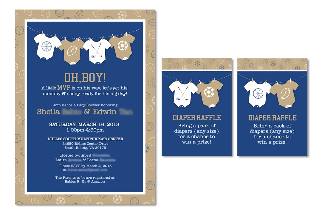 sports themed baby shower invitation message