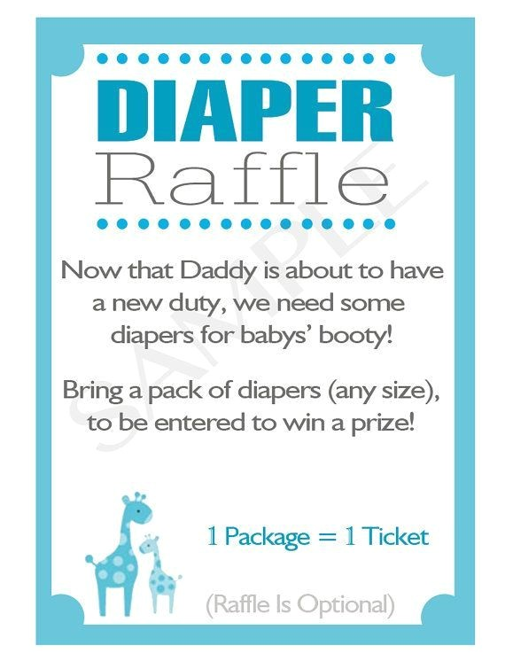 diaper raffle wording