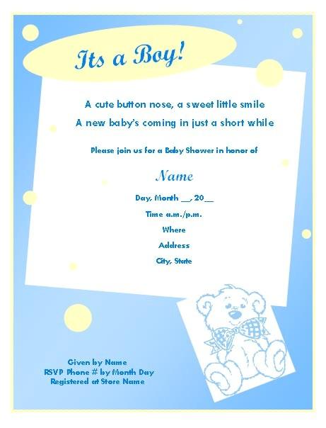 boy baby shower invitation wording ideas