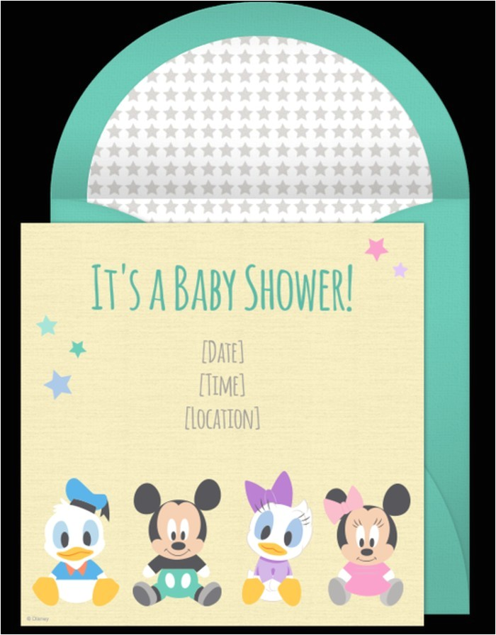 disney baby shower invitation sample