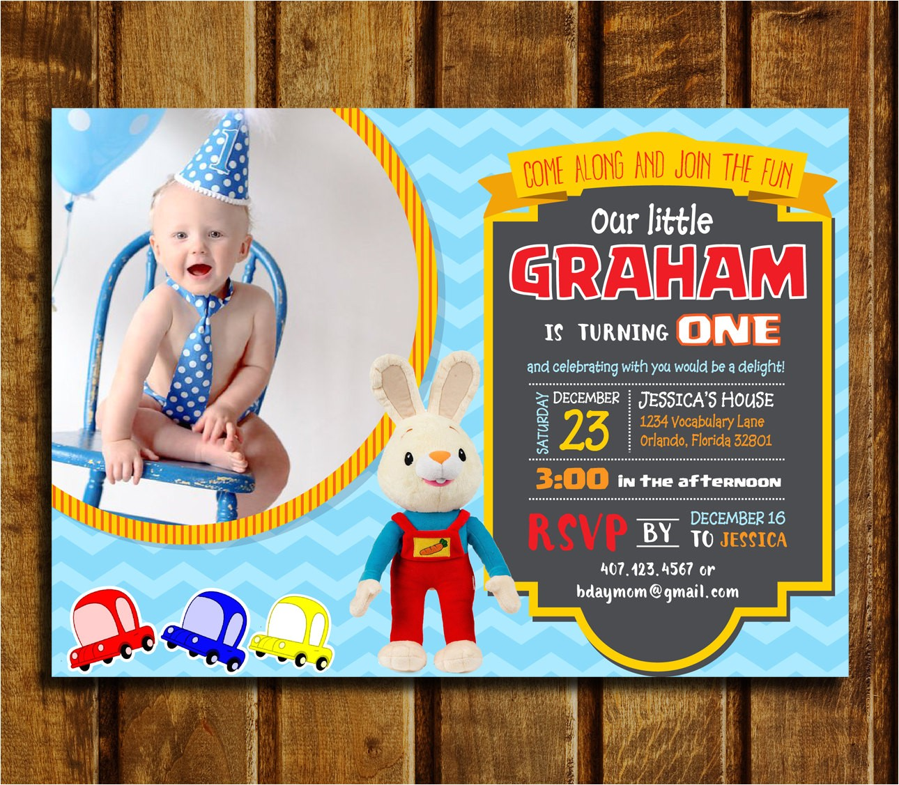 baby first tv birthday party invitations