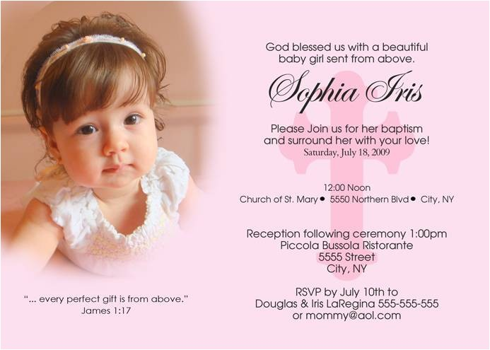 baby christening invitation free template