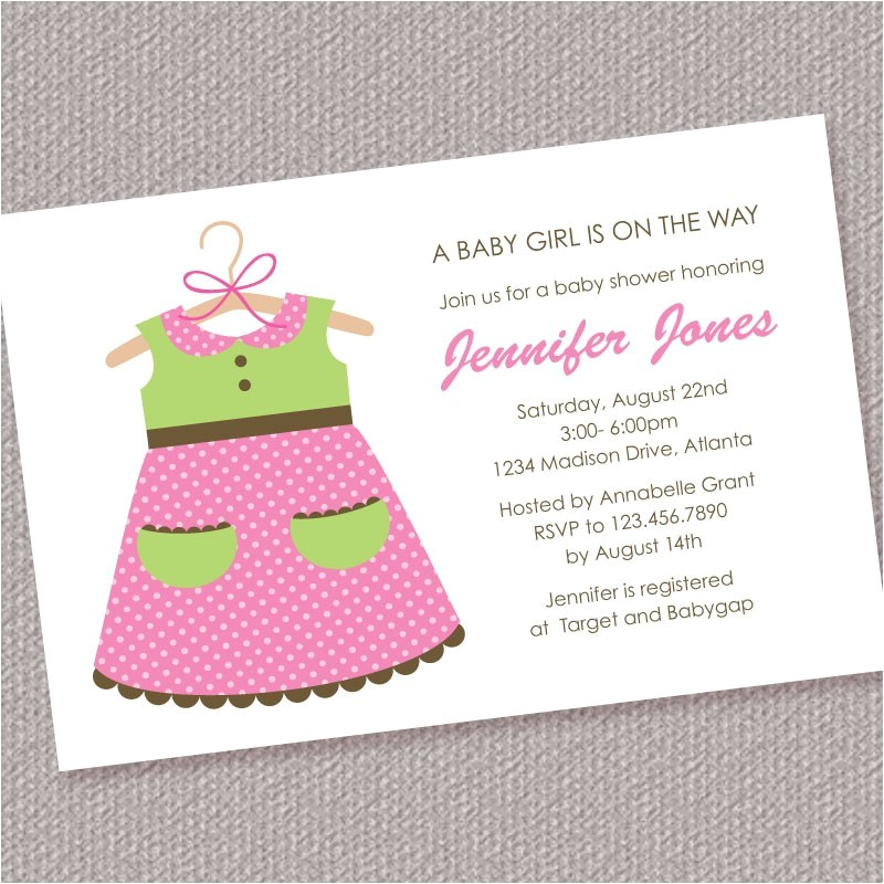 baby girl shower invitations wording