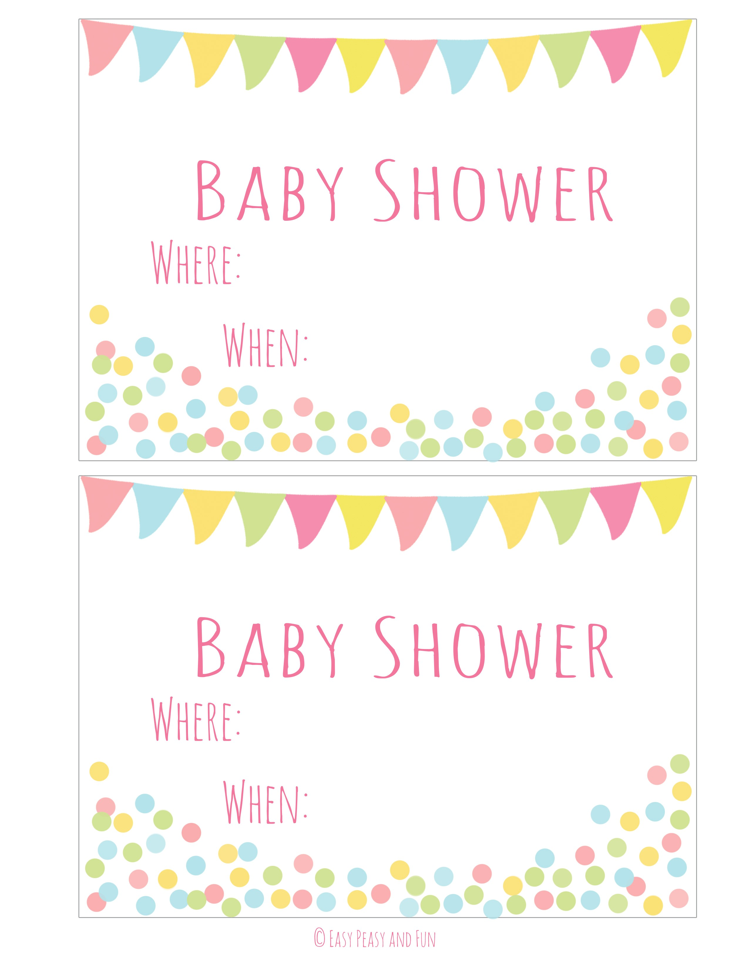 printable girl baby shower invitations