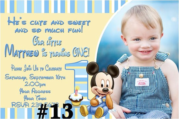 baby mickey mouse first birthday