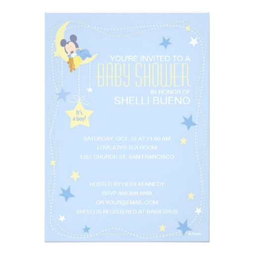 baby mickey mouse baby shower invitation